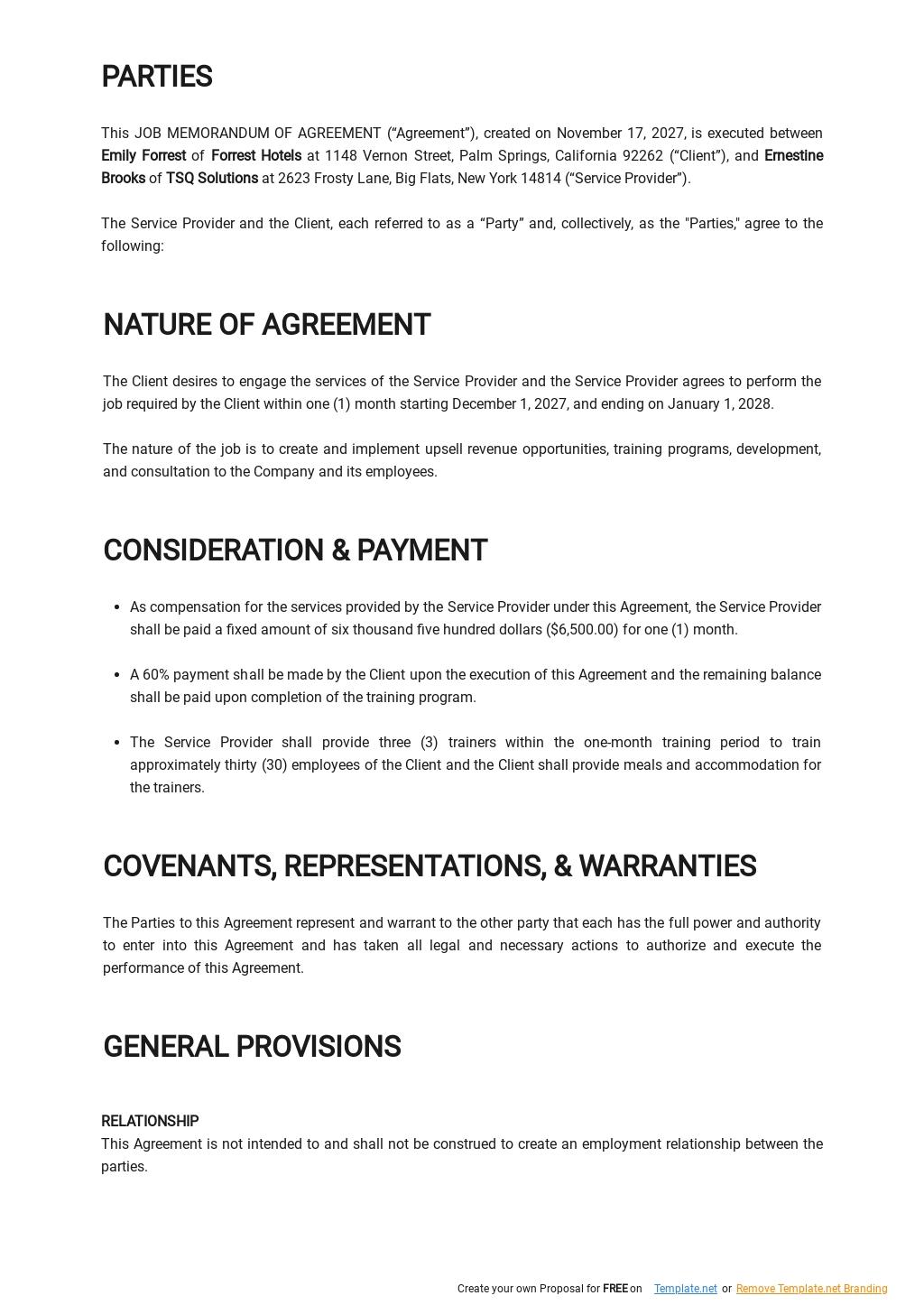 Job Memorandum Of Agreement Template 1.jpe