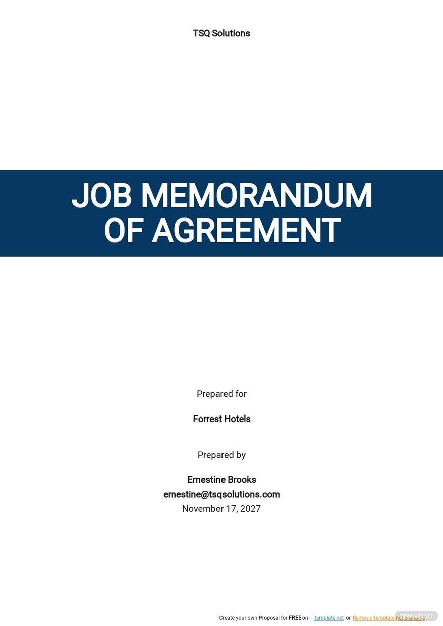 Job Memorandum Of Agreement Template.jpe