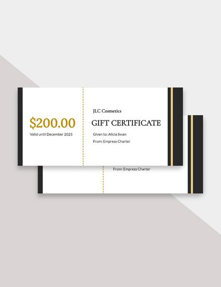 Free Fancy Gift Certificate Template