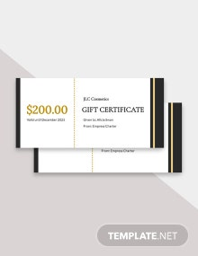 Free Fancy Gift Certificate Template