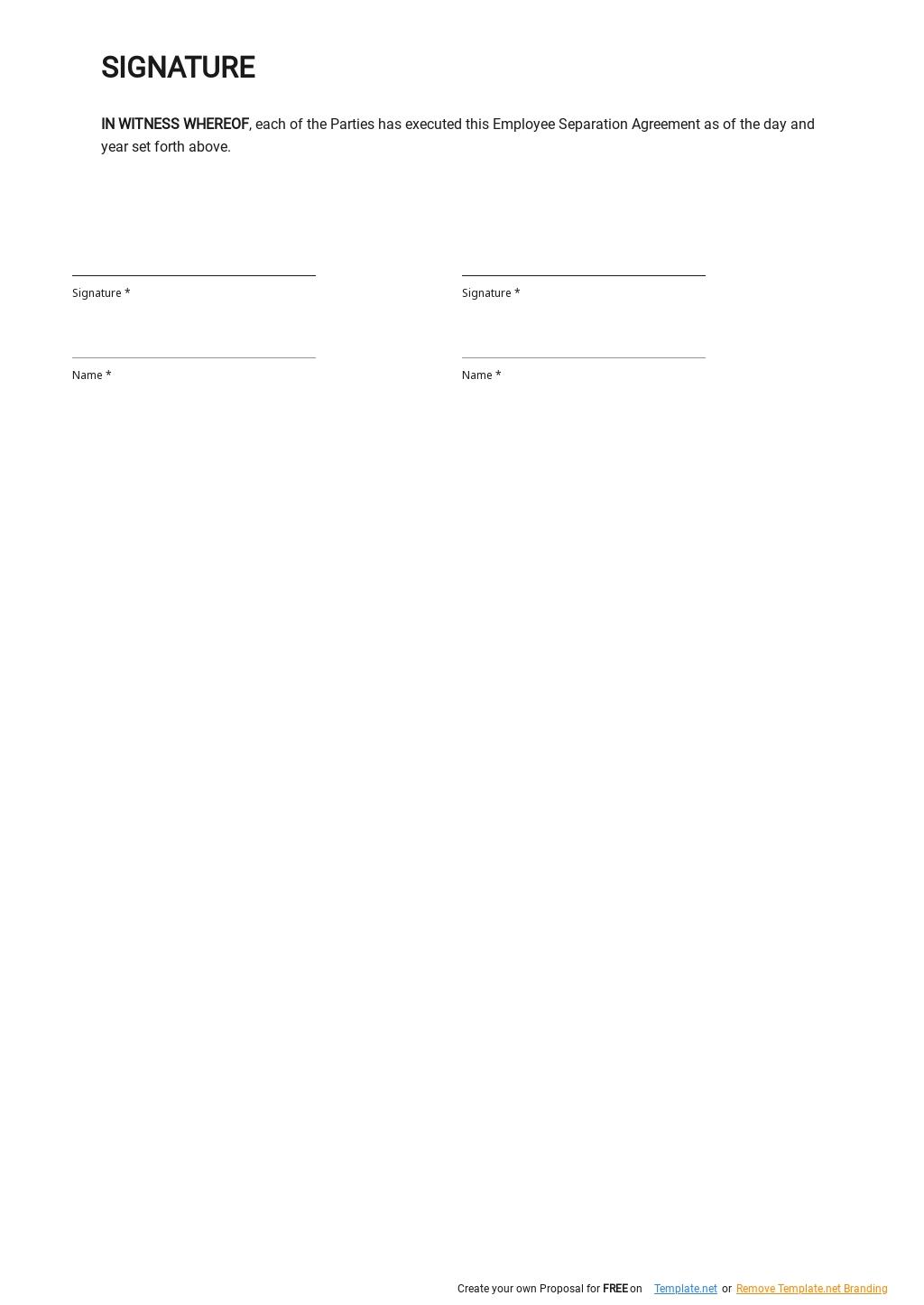 Sample Employee Separation Agreement Template 2.jpe