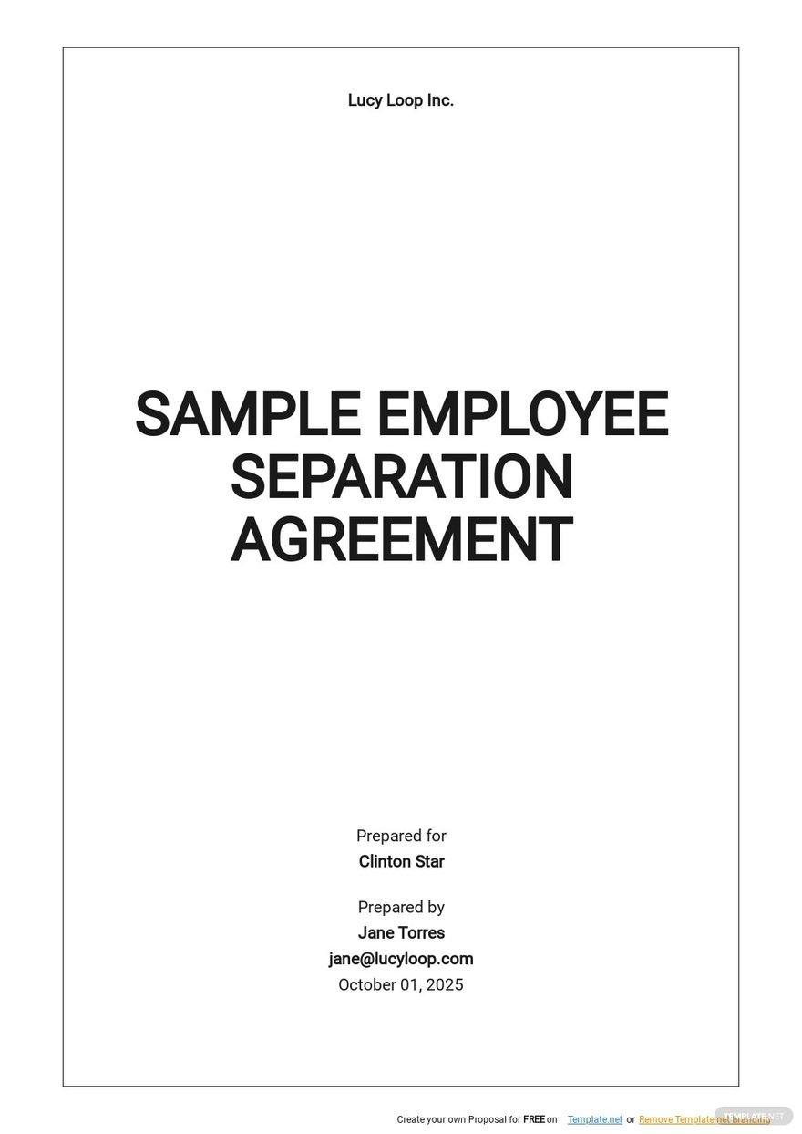 Sample Employee Separation Agreement Template.jpe