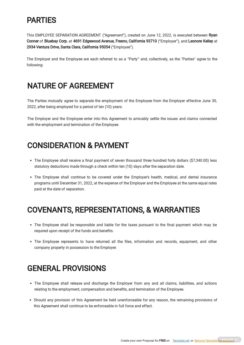 Simple Employee Separation Agreement Template 1.jpe