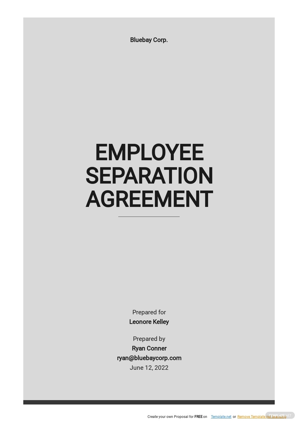 Simple Employee Separation Agreement Template.jpe