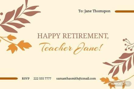 Teacher Retirement Card Template.jpe