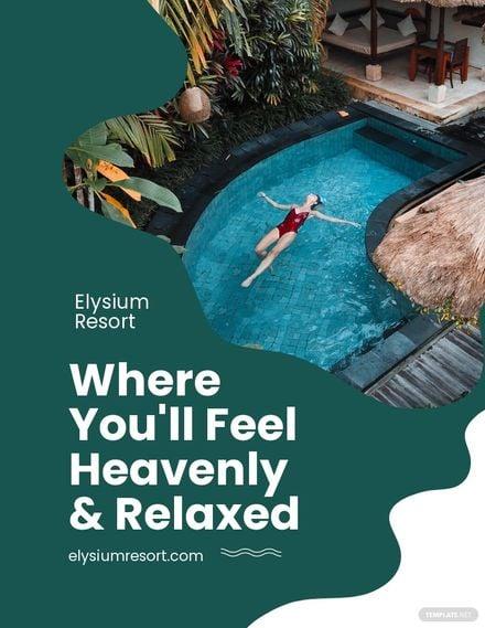 Resort Advertisement Flyer Template.jpe