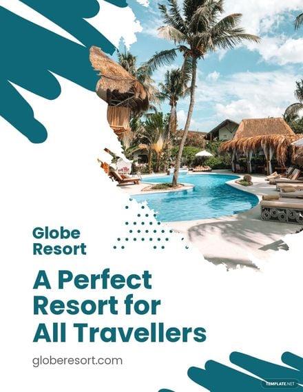 Travel Resort Flyer Template.jpe