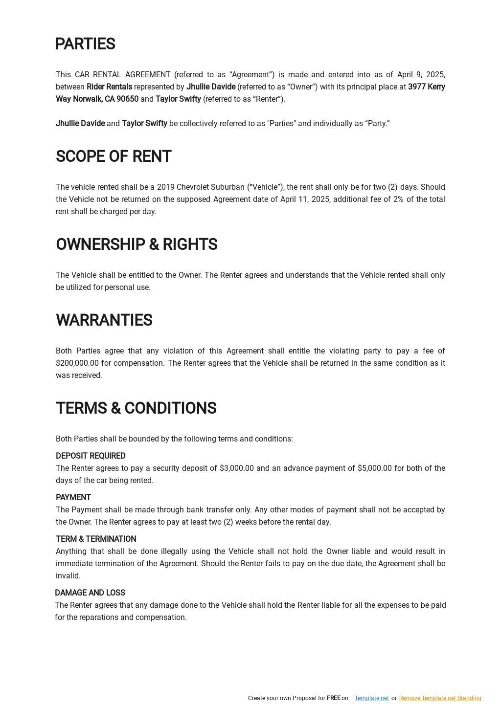 Simple Car Rental Agreement Template 1.jpe