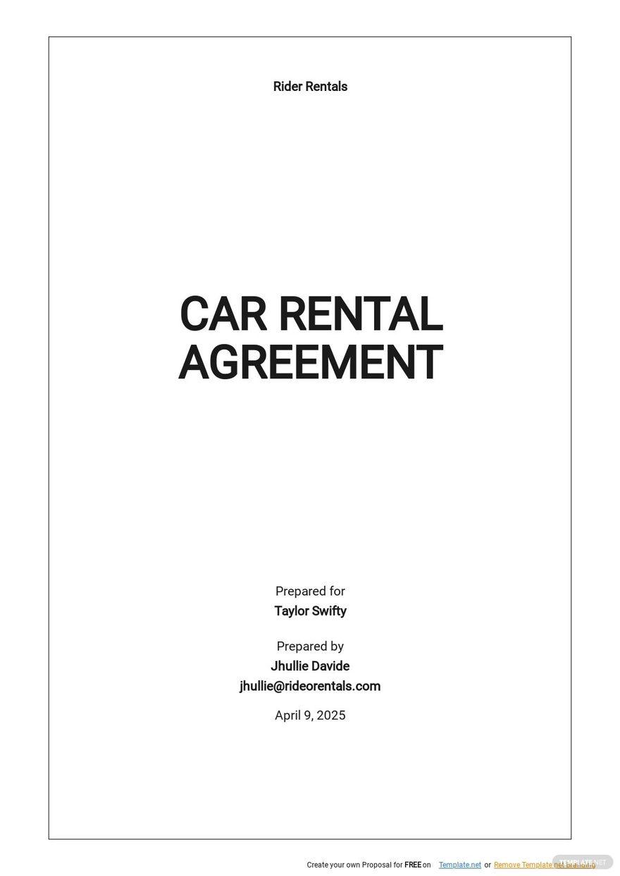 Simple Car Rental Agreement Template.jpe