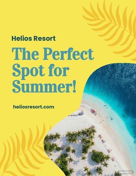 Summer Resort Flyer Template.jpe