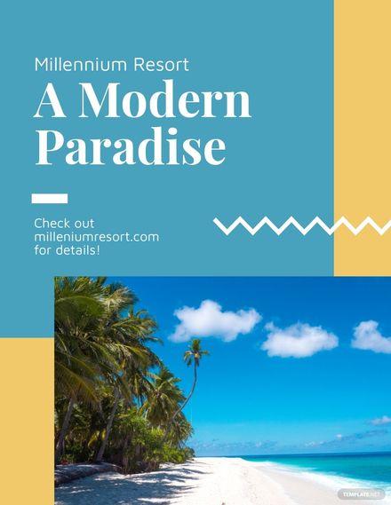 Modern Resort Flyer Template.jpe