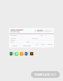 Free Simple Hotel Receipt Template