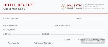 Free hotel receipt template free templates free hotel receipt template altavistaventures Image collections