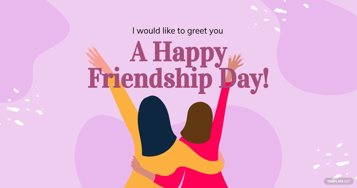 Happy Friendship Day Facebook Post Template.jpe