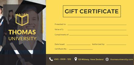 free graduation gift certificate template 1 2 - Graduation Gift Certificate Template Free