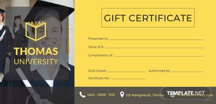 Free Graduation Gift Certificate Template