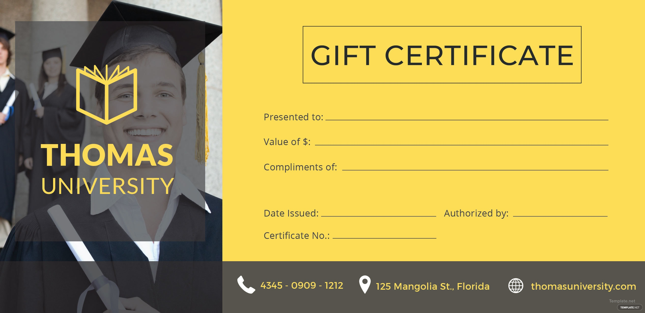 Free graduation gift certificate template in adobe illustrator graduation gift certificate template free download yelopaper Choice Image