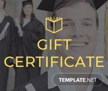 Free holiday gift certificate template in adobe illustrator free graduation gift certificate template yelopaper Images