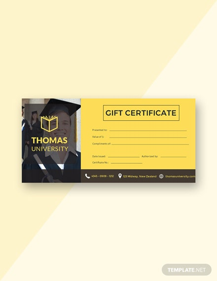 Free Graduation Gift Certificate Template
