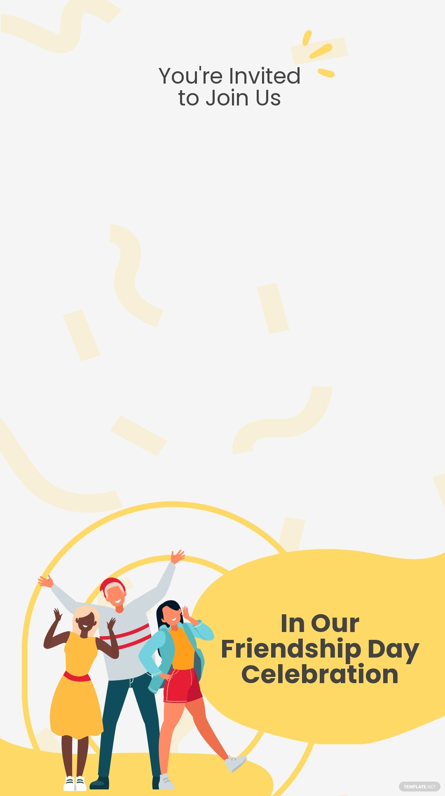 Friendship Day Celebration Snapchat Geofilter Template.jpe