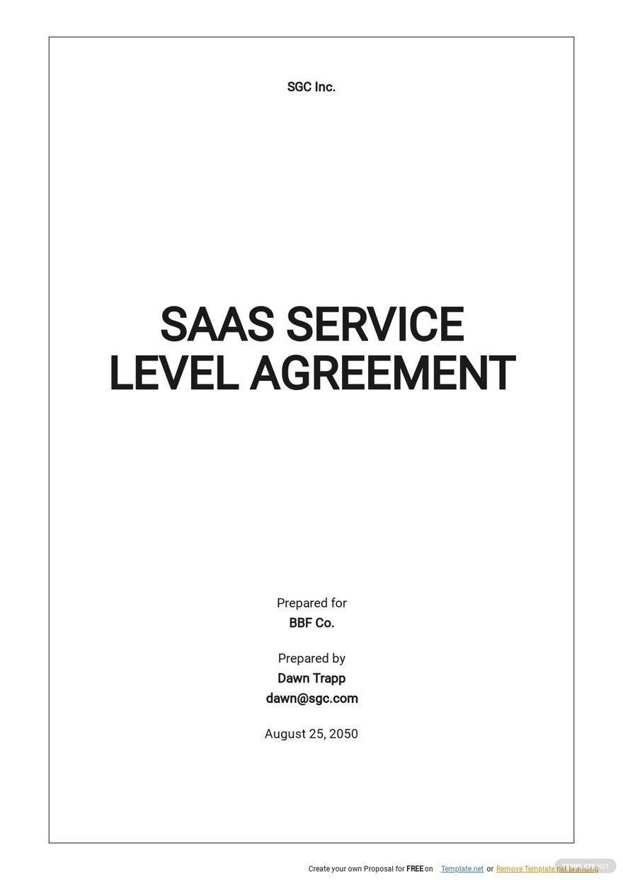 SAAS Service Level Agreement Template.jpe