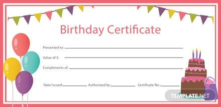 Free Birthday Gift Certificate Template: Download 200 ...