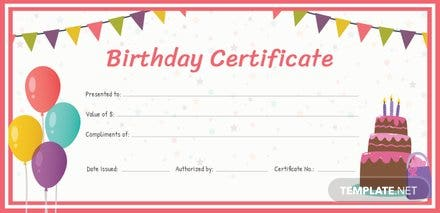 Free birthday gift certificate template in adobe illustrator free birthday gift certificate template yelopaper Gallery
