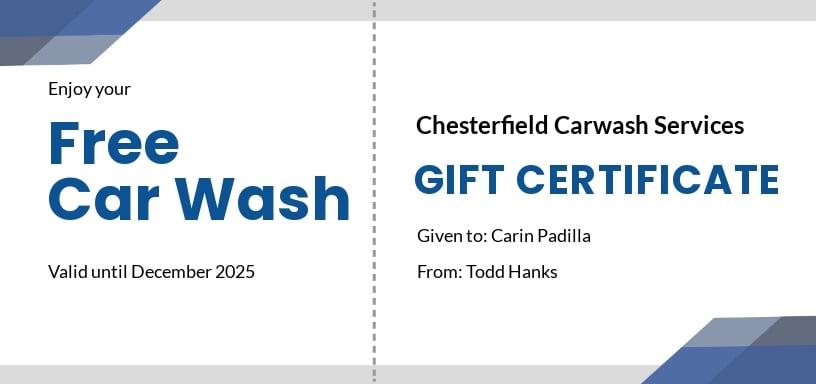 Free Carwash Gift Certificate Template.jpe