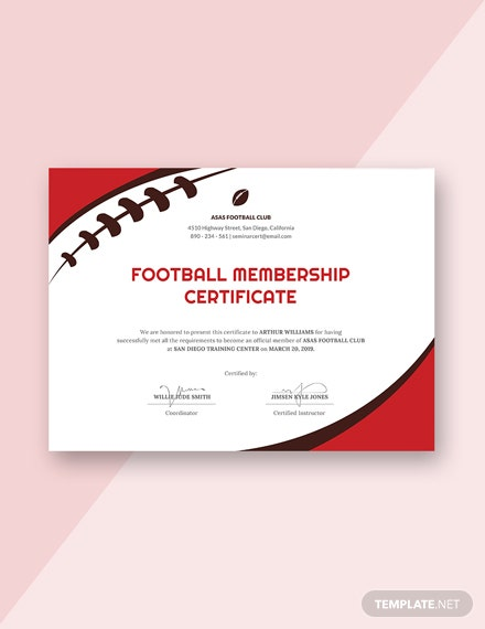 13 Free Sports Certificate Templates Download Ready Made
