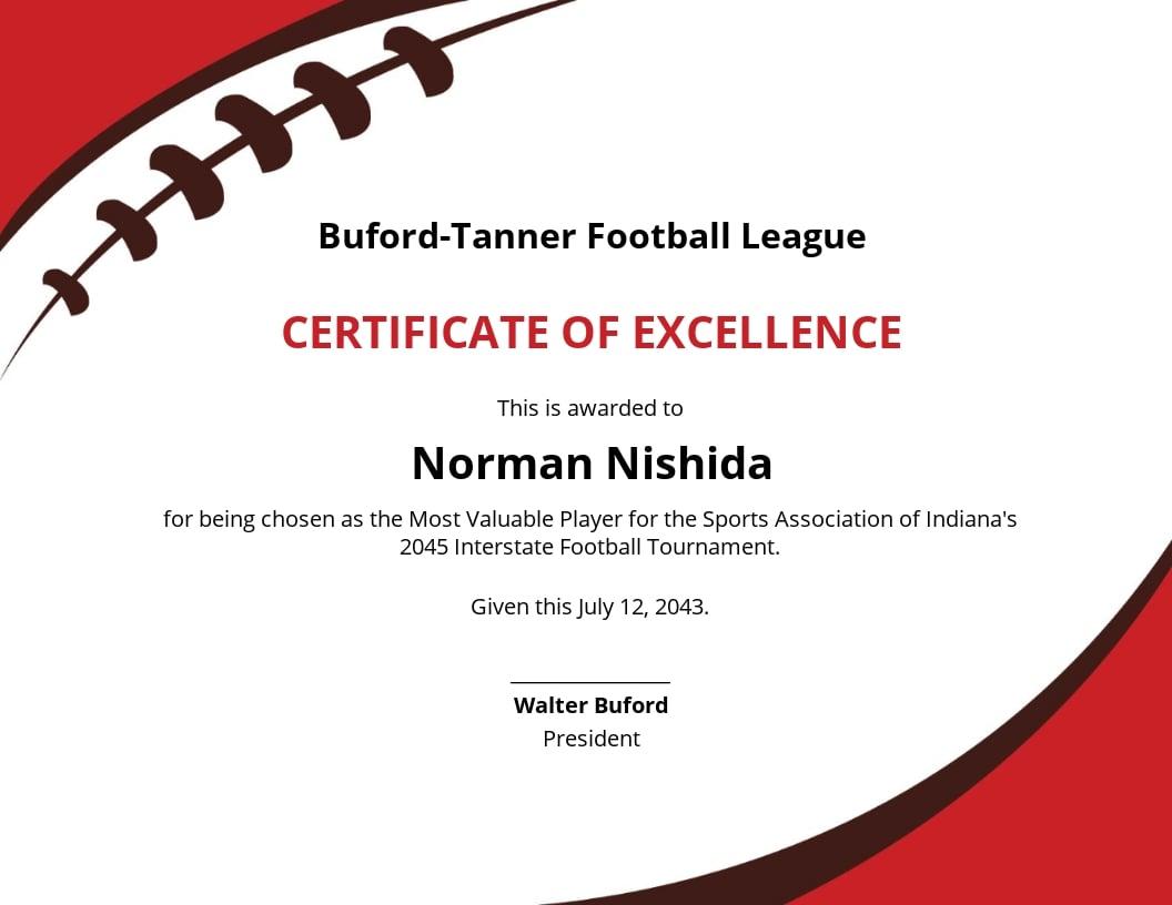Free Football Certificate Template.jpe