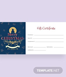 Free Company Gift Certificate Template In Adobe Illustrator - Company gift certificate template