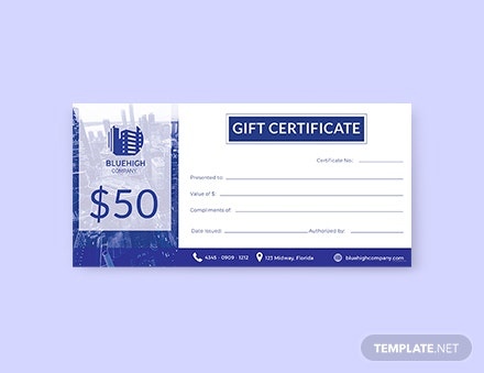 Free Gift Certificate Templates Download Ready Made Template