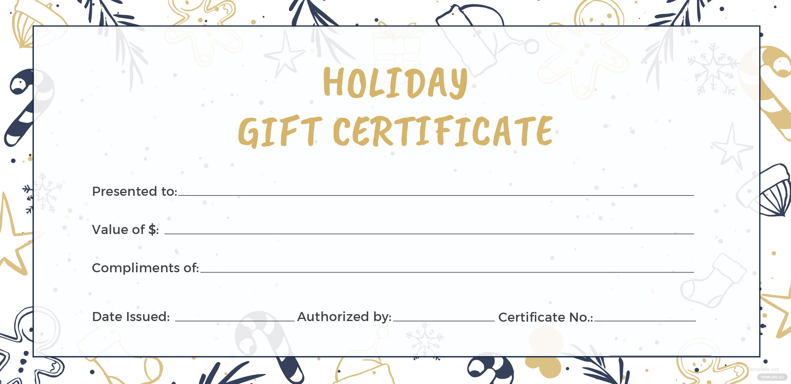Free Holiday Gift Certificate Template in Adobe ...