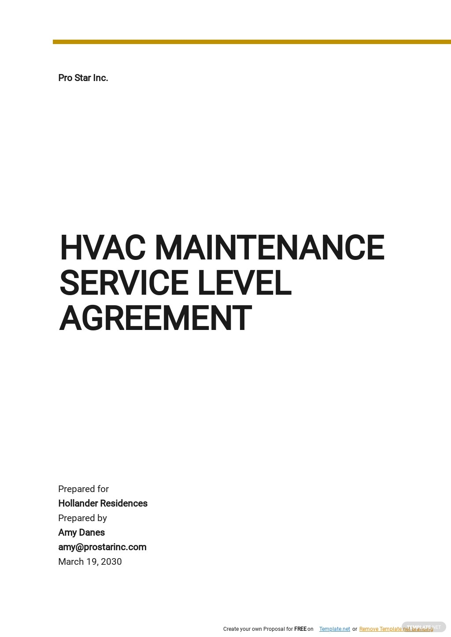 Free HVAC Maintenance Service Level Agreement Template.jpe