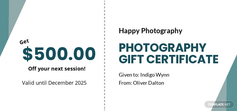 Free Photography Gift Certificate Template.jpe