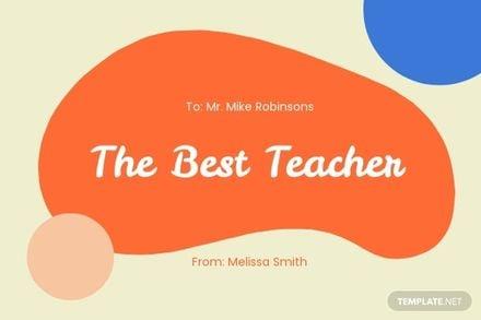 Sunday School Teacher Appreciation Card Template.jpe