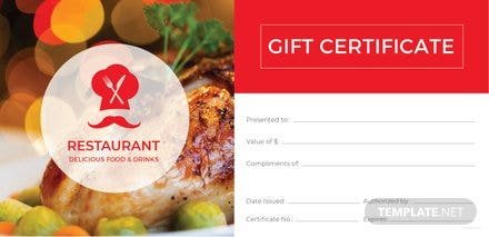 Free blank gift certificate template in adobe illustratorphotoshop free restaurant gift certificate template yelopaper Gallery