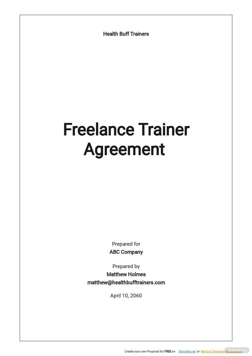 Freelance Trainer Agreement Template .jpe