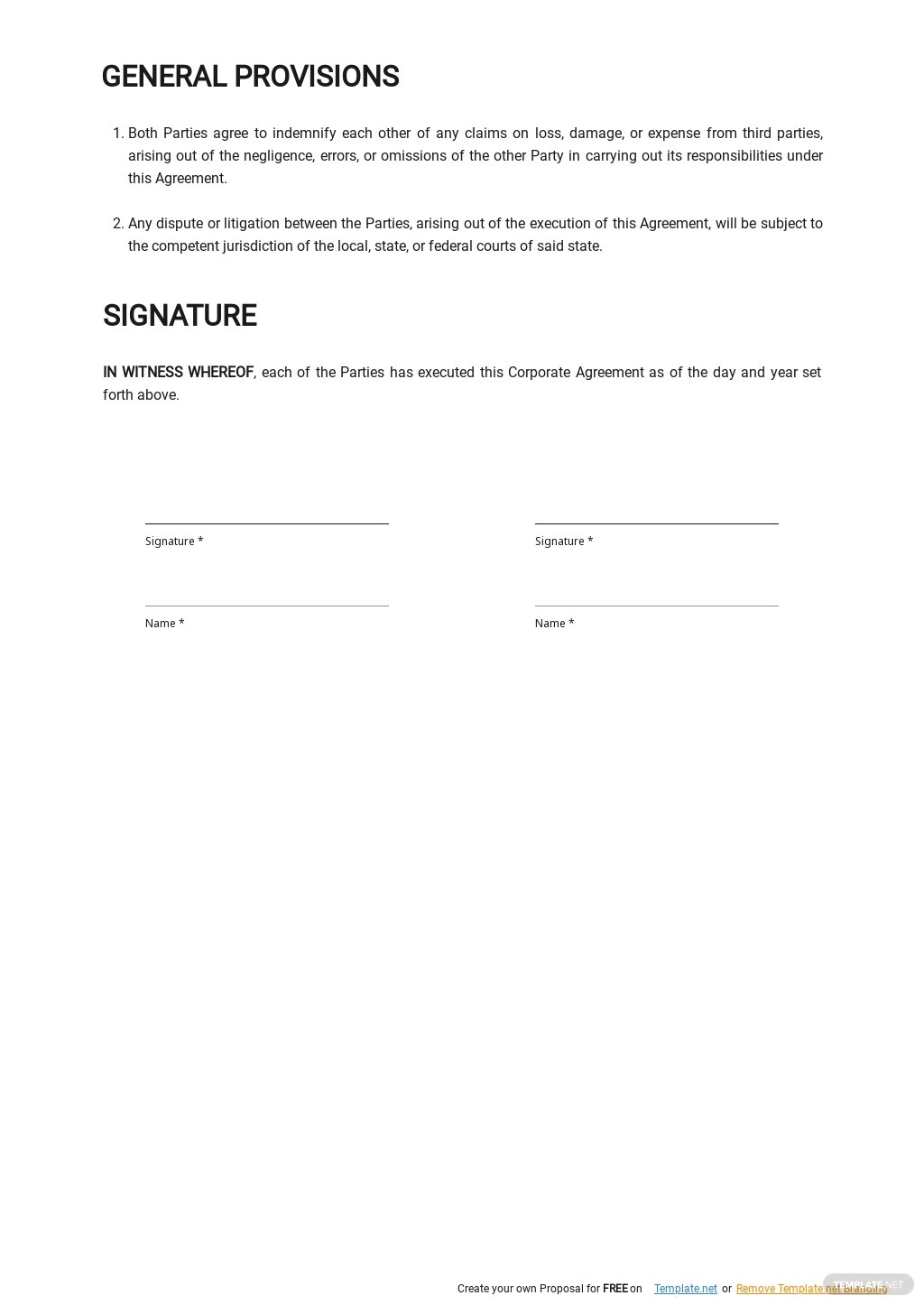 Free Corporate Service Level Agreement Template 2.jpe