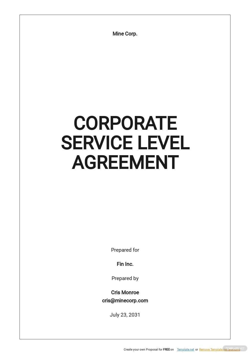 Free Corporate Service Level Agreement Template.jpe