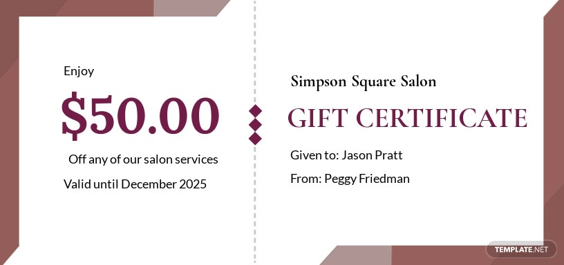 Free Salon Gift Certificate Template.jpe