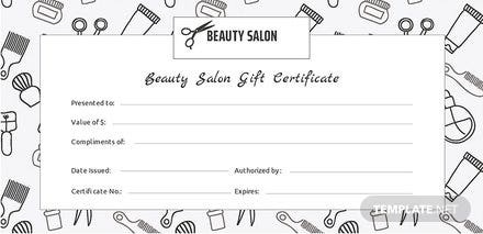 Free Salon Gift Certificate Template: Download 200 ...