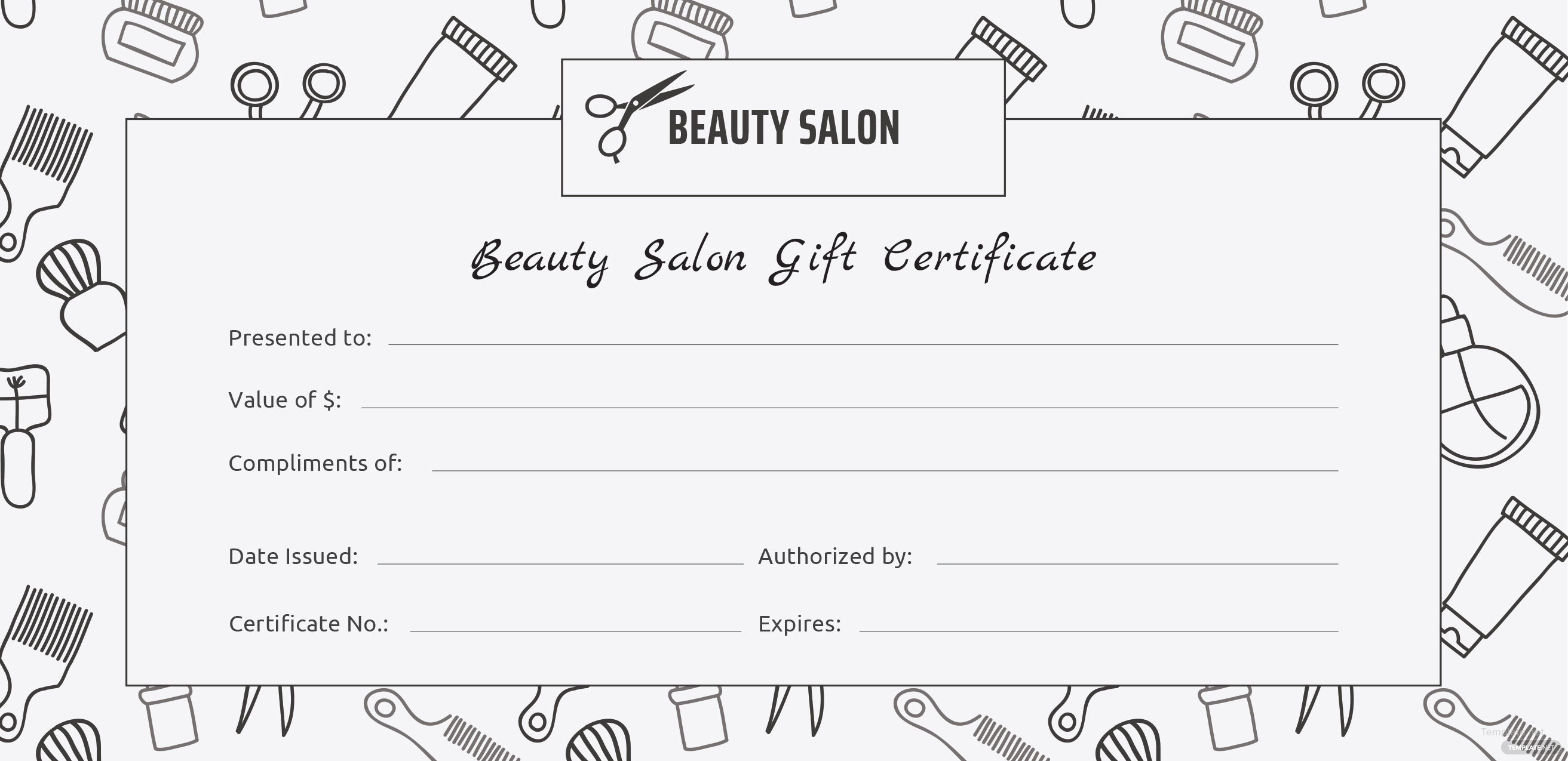 free salon gift certificate template in adobe illustrator