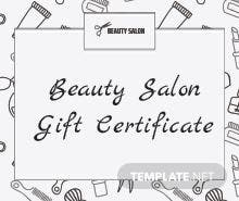 Free business gift certificate template in adobe illustrator free salon gift certificate template yadclub Image collections