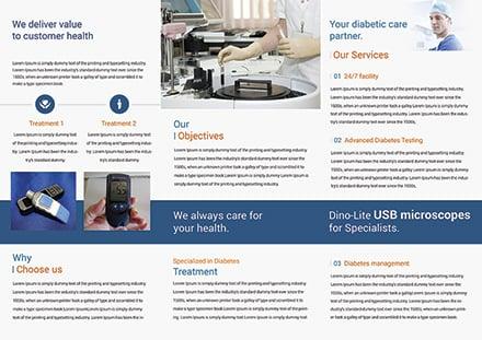 Diabetes Brochure Trifold