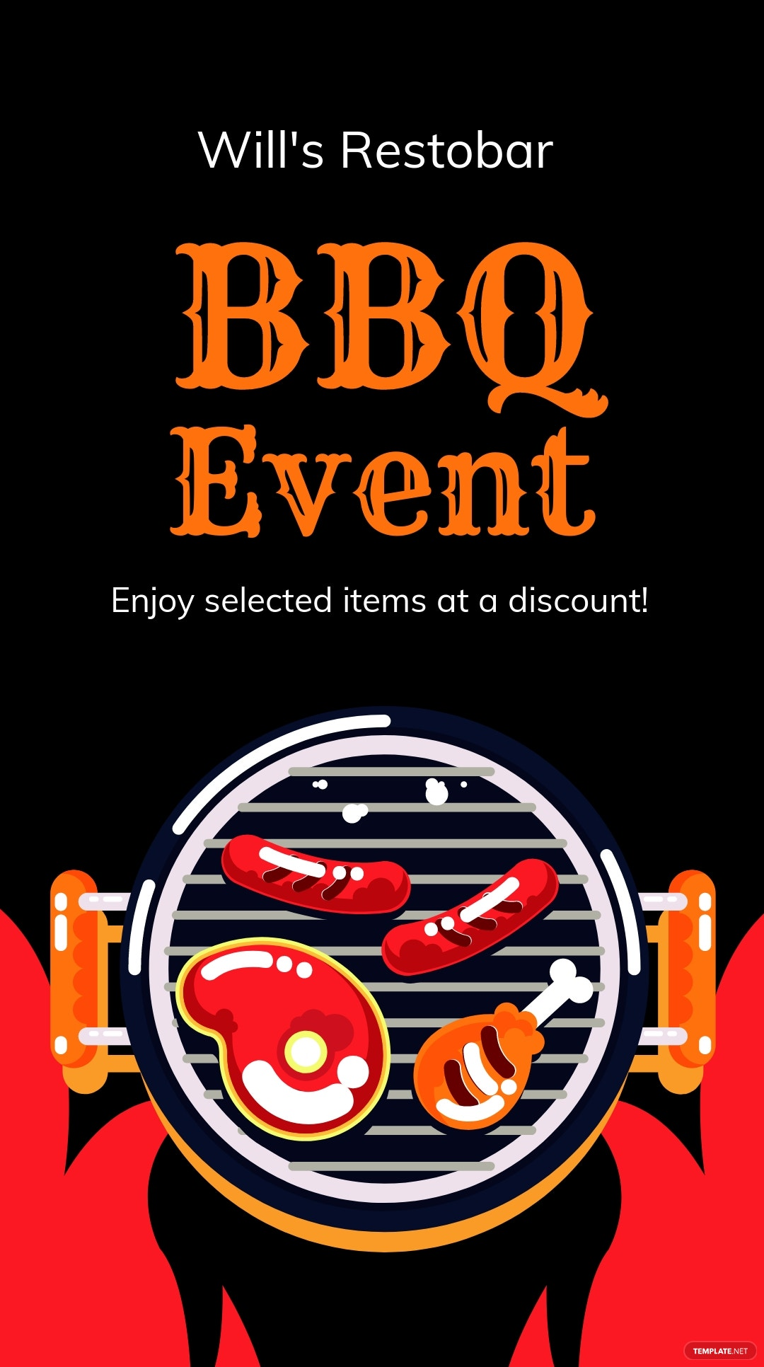 BBQ Event Instagram Story Template.jpe