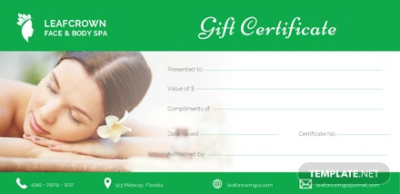 free spa gift certificate template 1 2 - Spa Gift Certificate Template Word