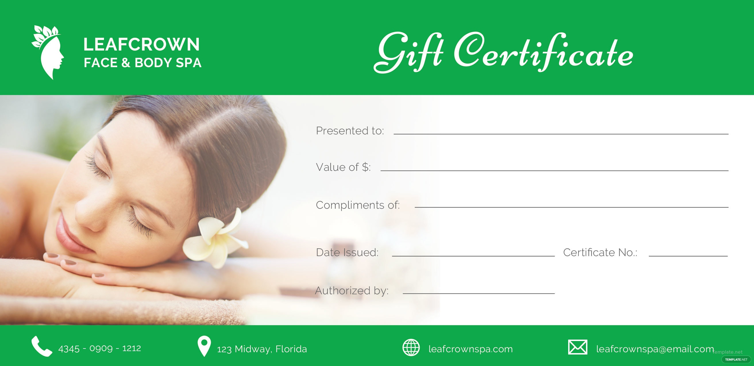 Free spa gift certificate template in adobe illustrator template free spa gift certificate template yadclub Image collections