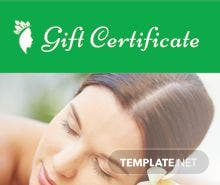 Free Spa Gift Certificate Template