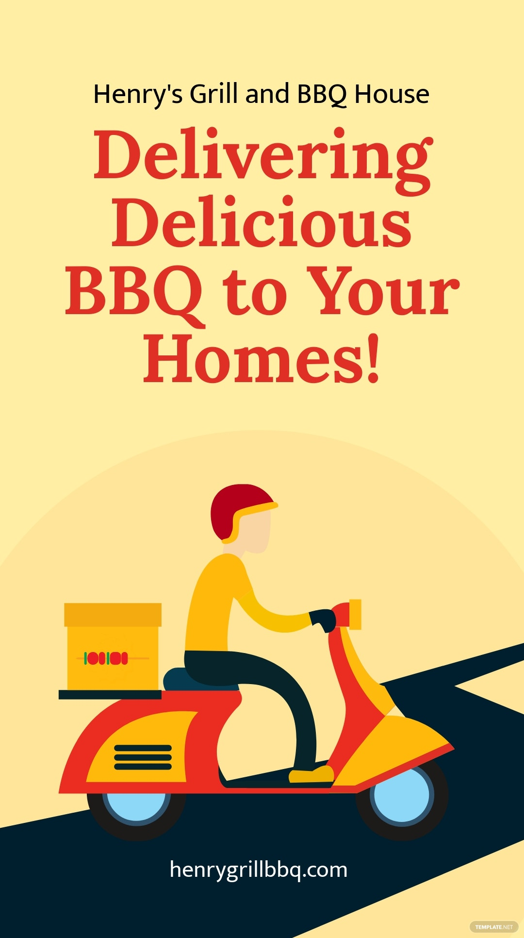 BBQ Delivery Offer Instagram Story Template.jpe